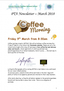 PTA Newsletter - March 2018